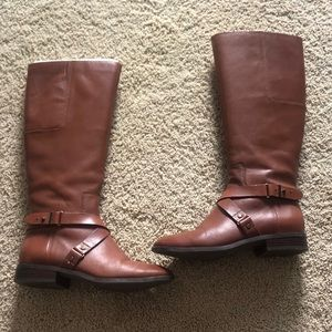 Nine West Tall Tan/Brown Leather Boots